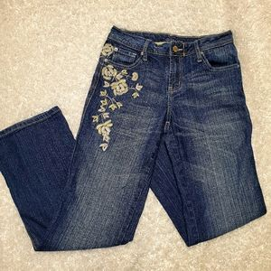 Gitano Embroidered Bootcut Mid-Rise Jeans